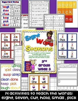Sight Word Stations {3rd Grade~4}