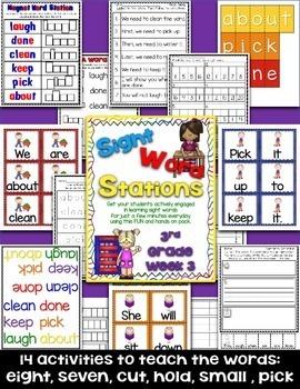 Sight Word Stations {3rd Grade~4}