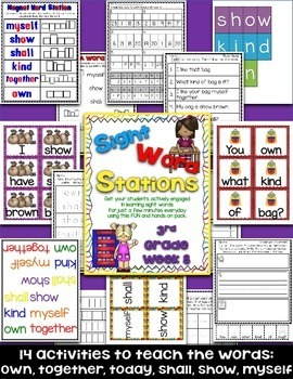Sight Word Stations {3rd Grade~8}