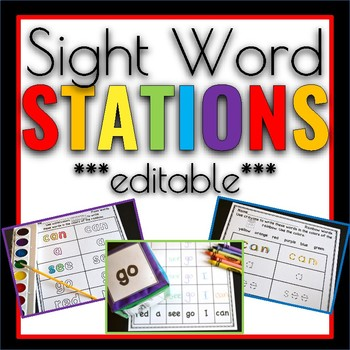 Sight Word Games & Stations Editable Edition
