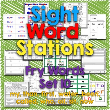 Sight Word Stations {Fry~10}