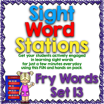 Sight Word Stations {Fry~13}