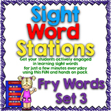 Sight Word Stations {Fry~3}