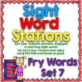 Sight Word Stations {Fry~7}