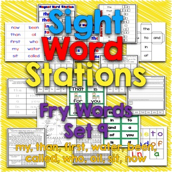 Sight Word Stations {Fry~9}