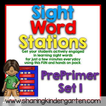 Sight Word Stations {PrePrimer~1}