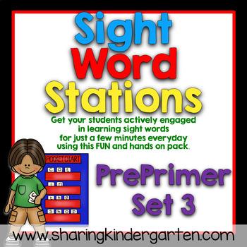 Sight Word Stations {PrePrimer~3}