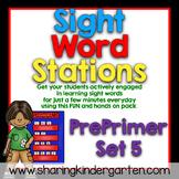Sight Word Stations {PrePrimer~5}