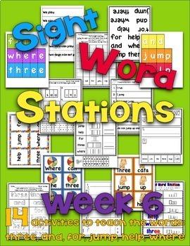 Sight Word Stations {PrePrimer~6}