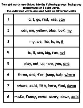 Sight Word Stations {PrePrimer~7}