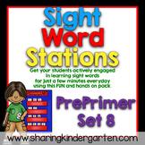 Sight Word Stations {PrePrimer~8}