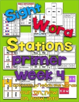 Sight Word Stations {Primer~4}