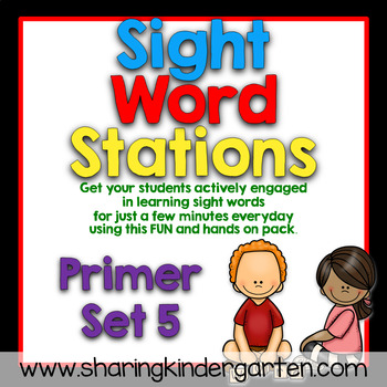 Sight Word Stations {Primer~5}