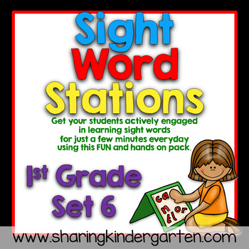 Sight Word Stations {First Grade~6}