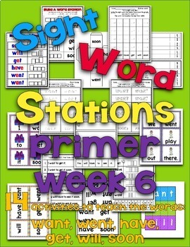 Sight Word Stations {Primer~6}