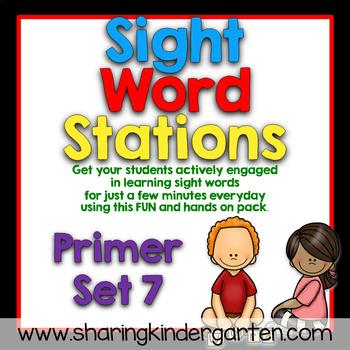 Sight Word Stations {Primer~7}