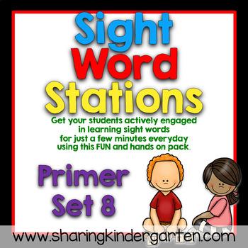 Sight Word Stations {Primer~8}