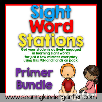 Sight Word Games & Stations {Primer~Bundled}
