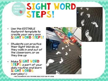 Sight Word Steps!