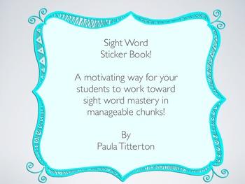 Sight Word Sticker Book!