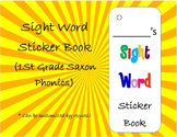 Sight Word Sticker Book (First Grade Saxon Phonics Words)(