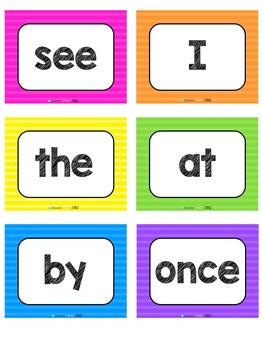 Sight Word Sticker Book & Flash Cards
