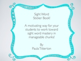 Sight Word Sticker Book ~ Free Version