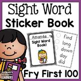 Sight Word Sticker Book - Editable