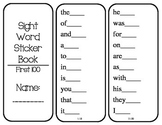 Sight Word Sticker Book (Fry words 1-1,000)