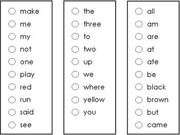 Sight Word Sticker Book [PreK-Second Dolch Words]