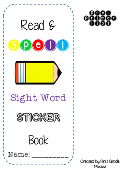 Sight Word Sticker Book Read and Spell EDITABLE