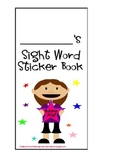 Sight Word Sticker Book for Word