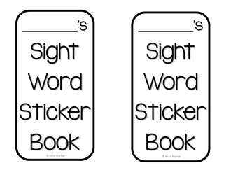 Sight Word Sticker Books {220 Dolch Words}