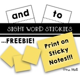 Sight Word Stickies