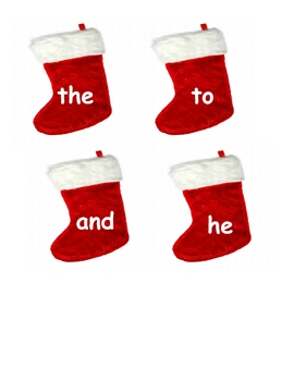 Sight Word Stockings