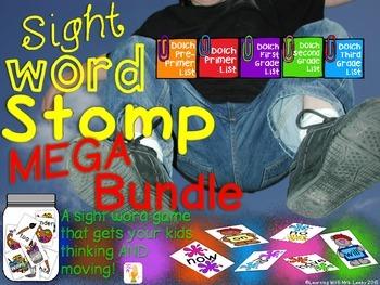 Sight Word Stomp MEGA BUNDLE ~ Pre-Primer - 3rd Grade Lists