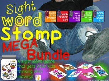 Sight Word Stomp MEGA BUNDLE ~ Pre-Primer - 3rd Grade Lists
