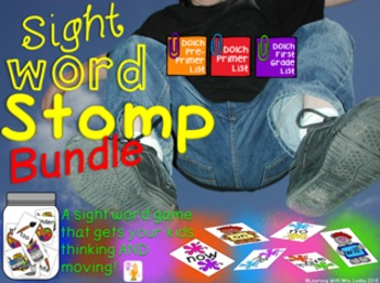 Sight Word Stomp Bundle - Pre-Primer, Primer and First Gra