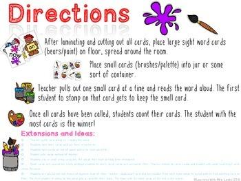 Sight Word Stomp - First Grade List