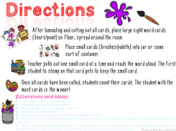 Sight Word Stomp - Pre Primer List