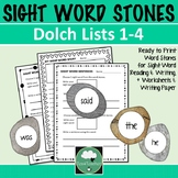 Sight Word Stones for Word Recognition Dolch Lists 1-4 Wri