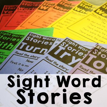 Sight Word Stories-Fluency and Comprehension Reading Passages
