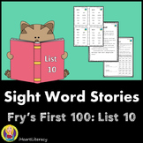 Sight Words Stories Fry's 1st 100 List 10