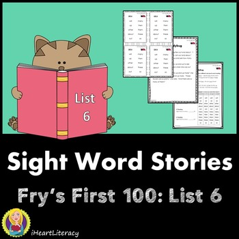 Sight Words Stories Fry's 1st 100 List 6
