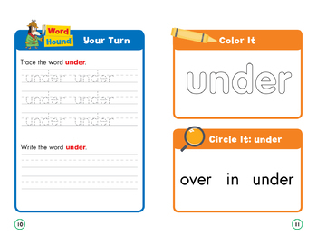 Sight Word Stories Mini Books: Under