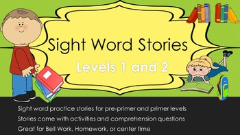 Sight Word Stories and Activities