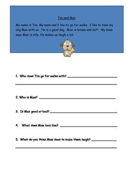 Sight Word Stories with Questions