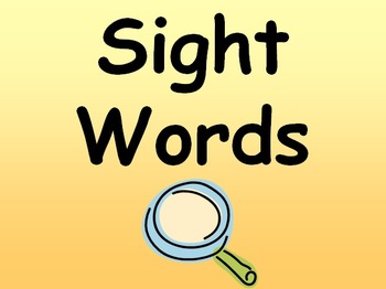 Sight Word Story