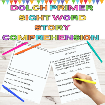 Sight Word Story Comprehension Dolch Primer Words
