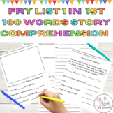 Sight Word Story Comprehension Fry High Frequency Words List 1 in 1st 100 Words